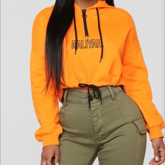 f93c6b280ab Fashion Nova Sweaters | Aaliyah Cropped Hoodie | Poshmark